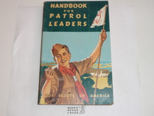 1965 Handbook For Patrol Leaders,  World Brotherhood (Second) Edition, MINT Condition but something spattered at the bottom side of pages on outside
