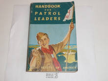 1953 Handbook For Patrol Leaders,  World Brotherhood (Second) Edition, Very good used Condition