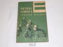 1959 Patrol Leader's Program Notebook, Used Condition