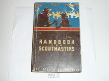 1952 Handbook For Scoutmasters, Fourth Edition, Sixth Printing, used Condition