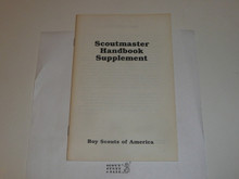 1989 Scoutmasters Handbook Supplement, MINT Condition