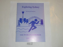 1987-1988 World Jamboree Exploring Sydney Pamphlet