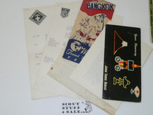 Group of Paperwork and Travel Documents from 1959 World Jamboree USA Contingent