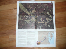 2001 National Jamboree Topo Map and Sattleite Map of Fort AP Hill, 2 Sided
