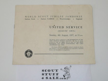 1957 World Jamboree Scouts Own Program