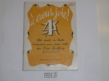 1947 World Jamboree Songbook in French #2