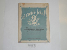 1947 World Jamboree Song Book In French