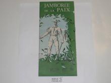 1947 World Jamboree Map With Sightseeing Information