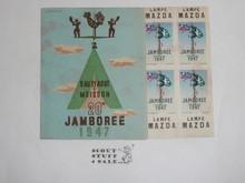 1947 World Jamboree Book of Stamps