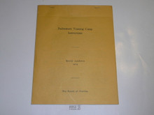1929 World Jamboree BSA Preliminary Training Camp Instructions