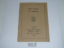 1920 World Jamboree Boy Scouts of America Souvenier Book