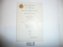 1924 World Jamboree Welcome Home Dinner Menu For Jamboree Troop With Signatures of Some Contingent Members