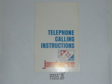 1977 National Jamboree Telephone Calling Instructions