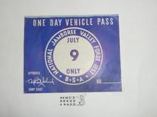 1957 National Jamboree Vehicle Pass, July 9