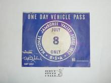 1957 National Jamboree Vehicle Pass, July 8