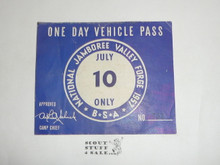 1957 National Jamboree Vehicle Pass, July 10