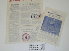 1957 National Jamboree Trading Post Services Flier and Valley Forge Guide
