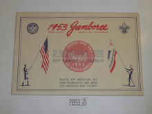 1953 National Jamboree Region 12 Map