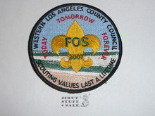Western Los Angeles County Council 2007 FOS Council Patch (CP)