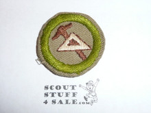 Mechanical Drawing - Type C - Tan Crimped Merit Badge (1936-1946), was sewn but in very good condition