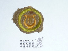 Music - Type C -  Tan Crimped Merit Badge (1936-1946), lt use