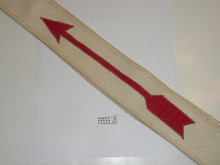 1930's Linen Owasippe Lodge #7 Ordeal Order of the Arrow Sash, 29""
