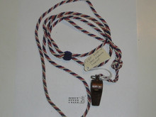 1937 World Jamboree USA Contingent Lanyard With Whistle