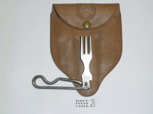 1960's Official Boy Scout Utensil Set, Fork and Case Only, Made By Schrade, With Plastic Case