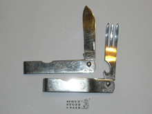 1950's Imperial Folding Knife and Fork, Both With Emblems