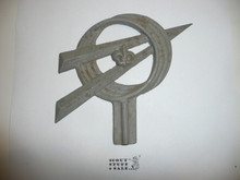 Cast Metal Rocket Explorer Emblem
