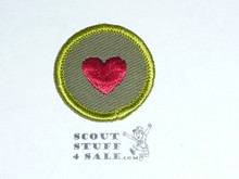 Personal Health - Type F - Rolled Edge Twill Merit Badge (1961-1968)
