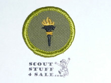 Public Health - Type F - Rolled Edge Twill Merit Badge (1961-1968)