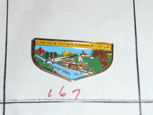 Woapink O.A. Lodge #167 Flap Shaped Pin - Scout