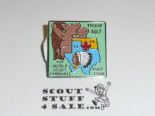 1987/1988 World Jamboree Texas/Oklahoma Troop Contingent Pin