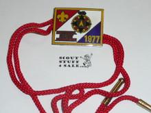 1977 National Jamboree Enameled Bolo Tie