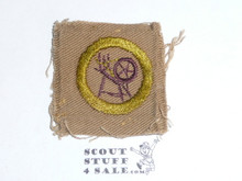 Textiles - Type A - Square Tan Merit Badge (1911-1933), used