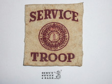 1937 National Jamboreee Service Troop Felt Patch, Shows Some Wear
