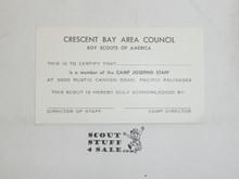 1960's CBAC Camp Josepho Staff ID Card