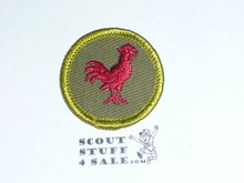 Poultry Keeping - Type F - Rolled Edge Twill Merit Badge (1961-1968)