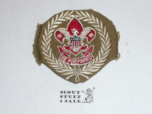 Scout Executive Patch (SE2), 1920-1938, lt use but trimmed