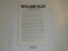 WTA and SCAT Newsletter, 1985 February, Vol 13 #1, Merger of WTA and SCAT