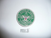 Scoutmaster Patch (SM6), 1970-1972, lt. use