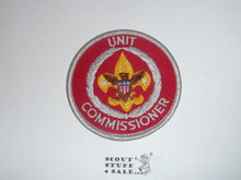 Neighborhood Commissioner / Unit Commissioner Patch (NC11), 1973-?, Lt red twill and tan eagle