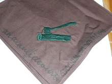 Wood Badge Neckerchief (Axe and Log) signed by William Hillcourt in 1948