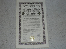 1958 Council Charter Certificate, Stanford Area Council, 15 year Veteran