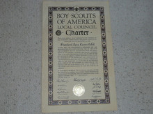 1961 Council Charter Certificate, Stanford Area Council, 20 year Veteran