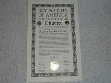 1959 Council Charter Certificate, Stanford Area Council, 15 year Veteran