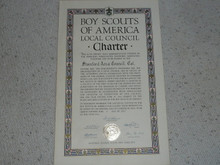 1942 Council Charter Certificate, Stanford Area Council, Original James E. West Signature