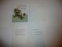 1950's Boy Scout Christmas Card with envelope