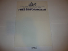 1975 World Jamboree Press Information Stationary